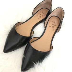 Banana Republic black leather Aiden d'Orsay flats